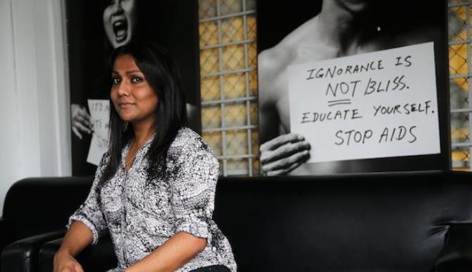 nisha ayub aids campaign