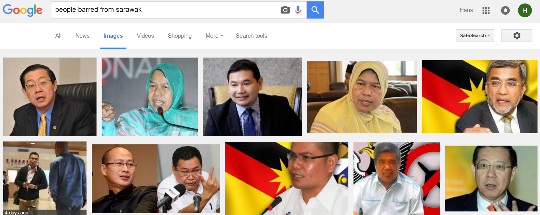 people barred from sarawak