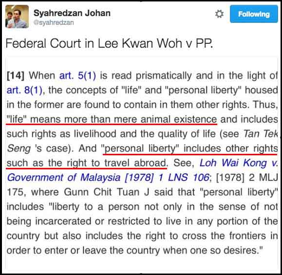 Syahredzan Johan on Twitter   Federal Court in Lee Kwan Woh v PP. https   t.co m8M6iUAfsy