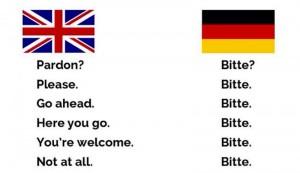 Bitte in German