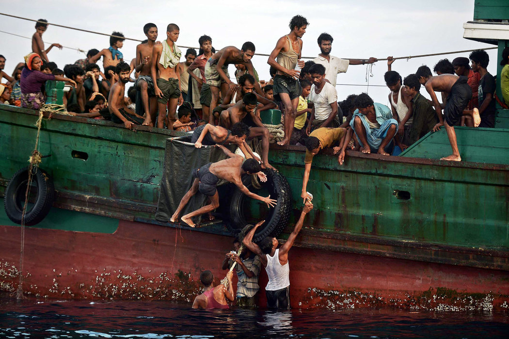 Rohingya asylum seekers boat Image from The New York Times