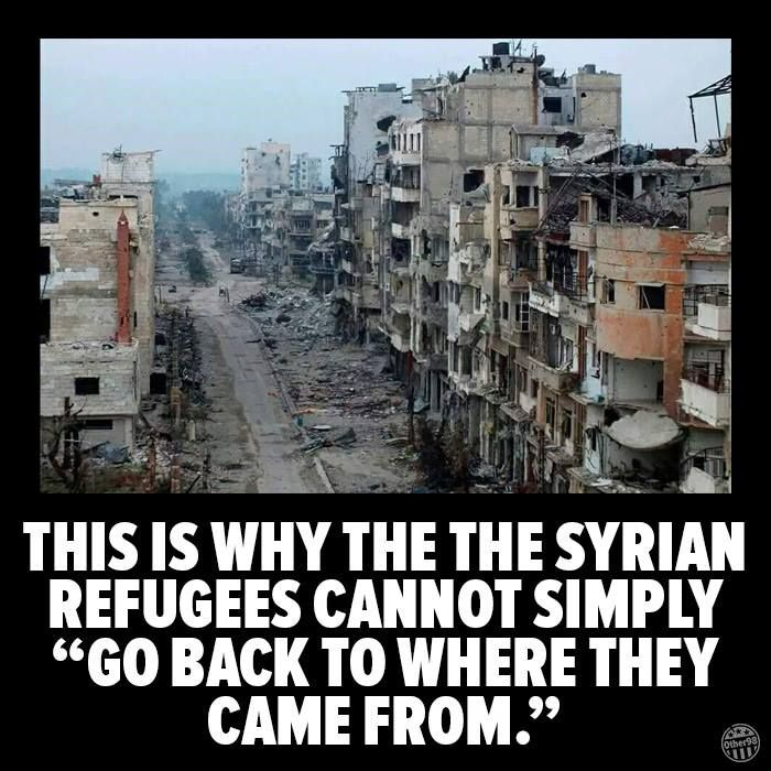 syrian refugees cannot go back Image from
