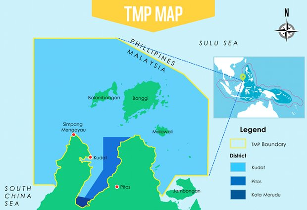 tun mustapha park map area Image from WWF Malaysia