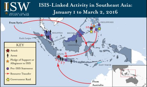 isis activity southeast asia