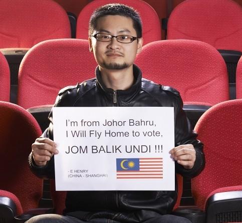 overseas malaysian global bersih shanghai voting postal