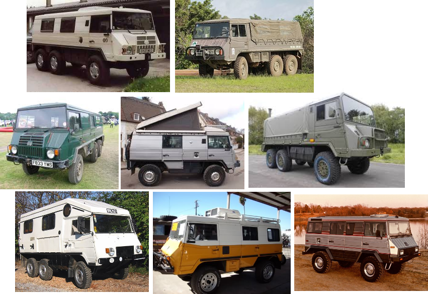 pinzgauer military truck in various forms Images from Google