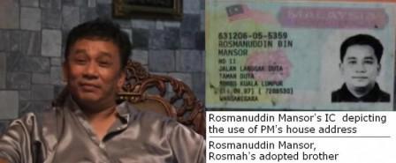 rosman mansor rosmah step brother IC langgak duta