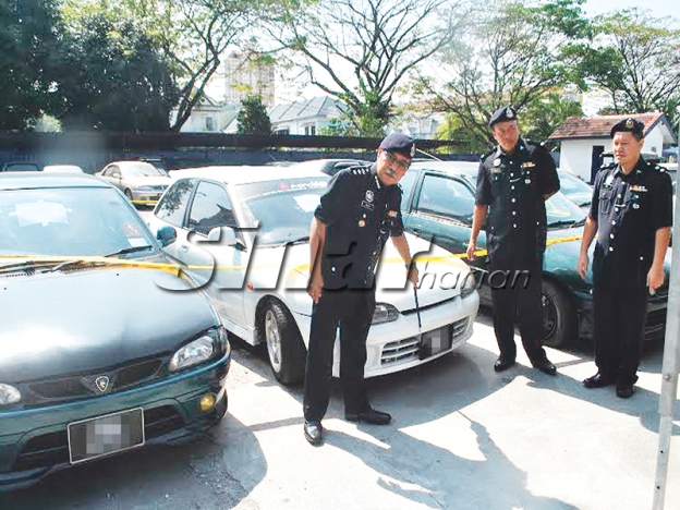 Police nab proton thieves gang syndicate vehicle theft Image from Sinar Harian
