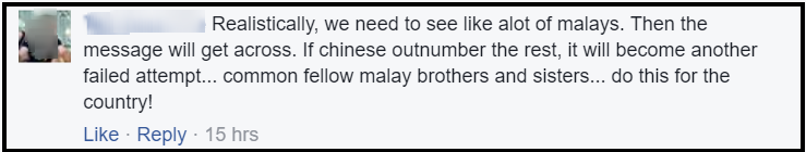 bersih 5 comment chinese