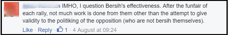 bersih 5 political