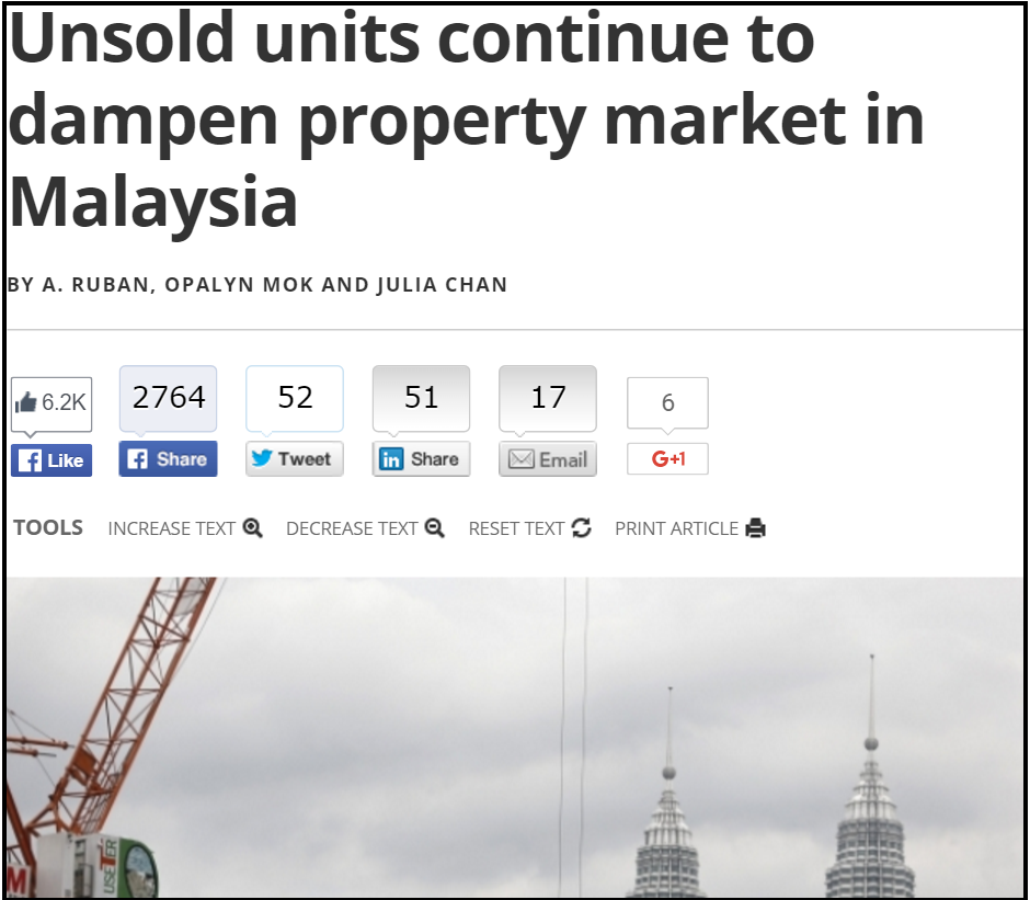 Unsold units continue to dampen property market in Malaysia Malaysia Malay Mail Online