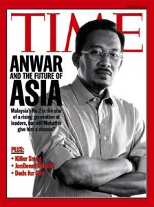 安华当时登上国际舞台,连时代杂志也以他做封面。