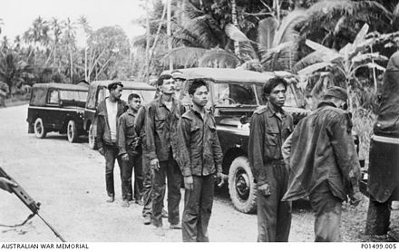 This group of Indonesian troops were caught in Sungai Kesang, Melaka. Image from wikiwand.com