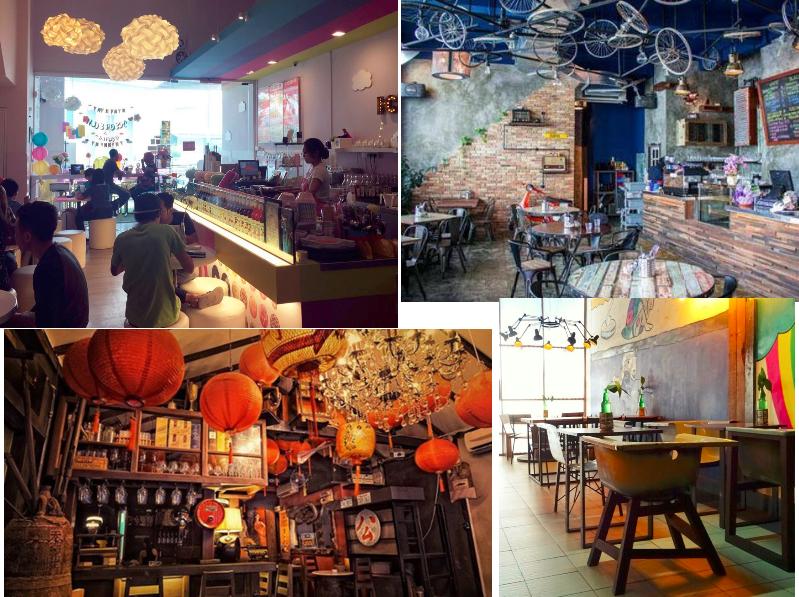 hipster cafe collage kuching