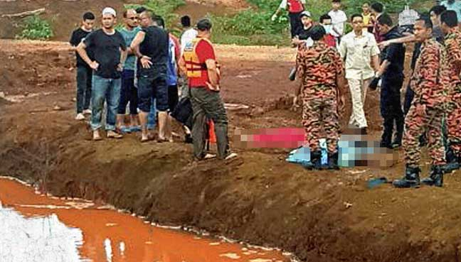 kids drown disused mining pool pahang