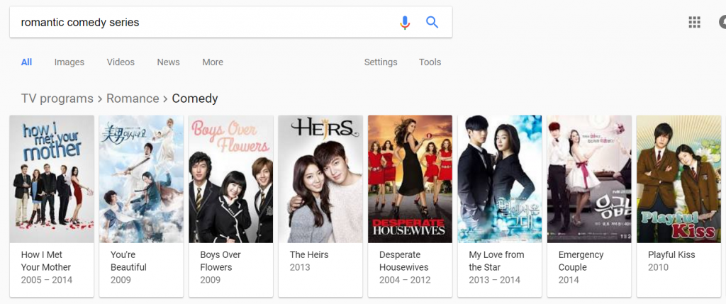 romantic comedy series Google Search