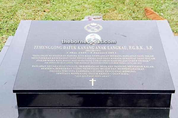 Kanang's grave. Image from The Borneo Post.