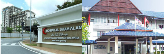 The Health Ministry plans to add Hospital Shah Alam and Hospital Langkawi to the list of training hospitals. Original images from mstar.com.my and langkawiportal.com