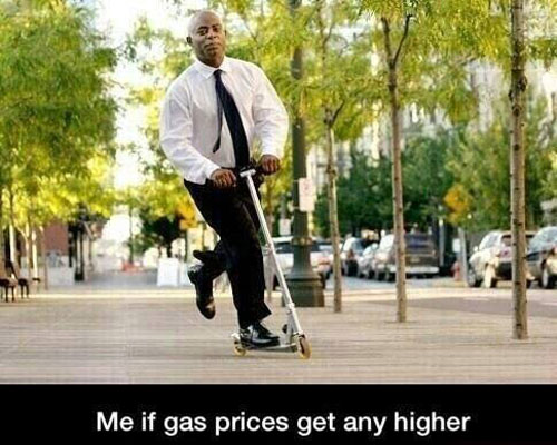 gas price scooter
