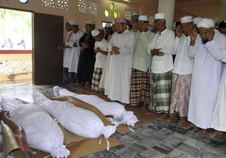 A Muslim funeral. Source