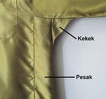 Pesak_dan_kekek_pada_baju_Melayu 1