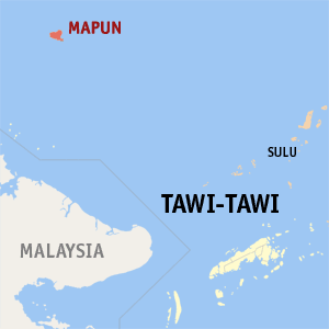 The 'Malaysia' text is actually Sabah's snout. Source