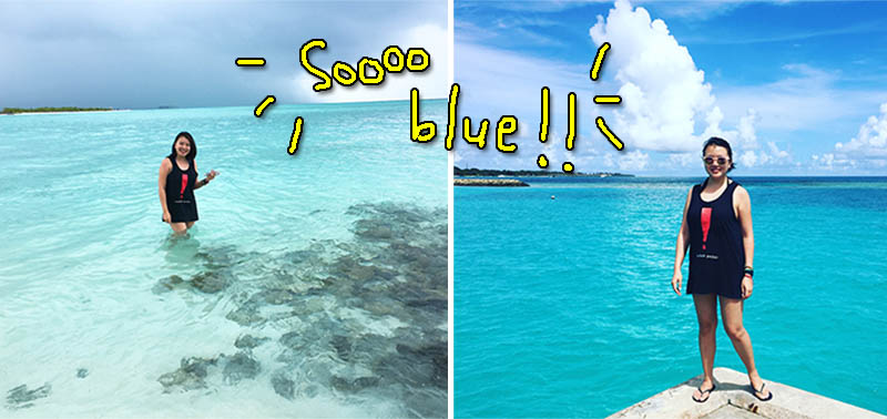 At Picnic Island (left) and by the pier (right). Soooo blueeeee!