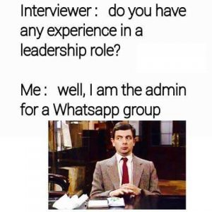 whatsapp admin leadership role meme