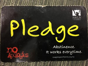 Pledge card from No Apologies