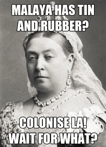 QUEEN VICTORIA MEME MALAYA TIN RUBBER COLONISE