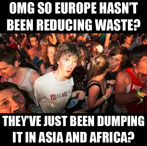 sudden clarity clarence europe reducing waste dumping asia africa