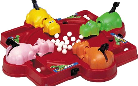 And that's the backstory for Hungry Hungry Hippos. Source