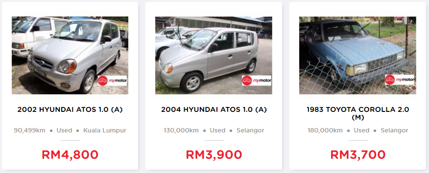 used car second hand