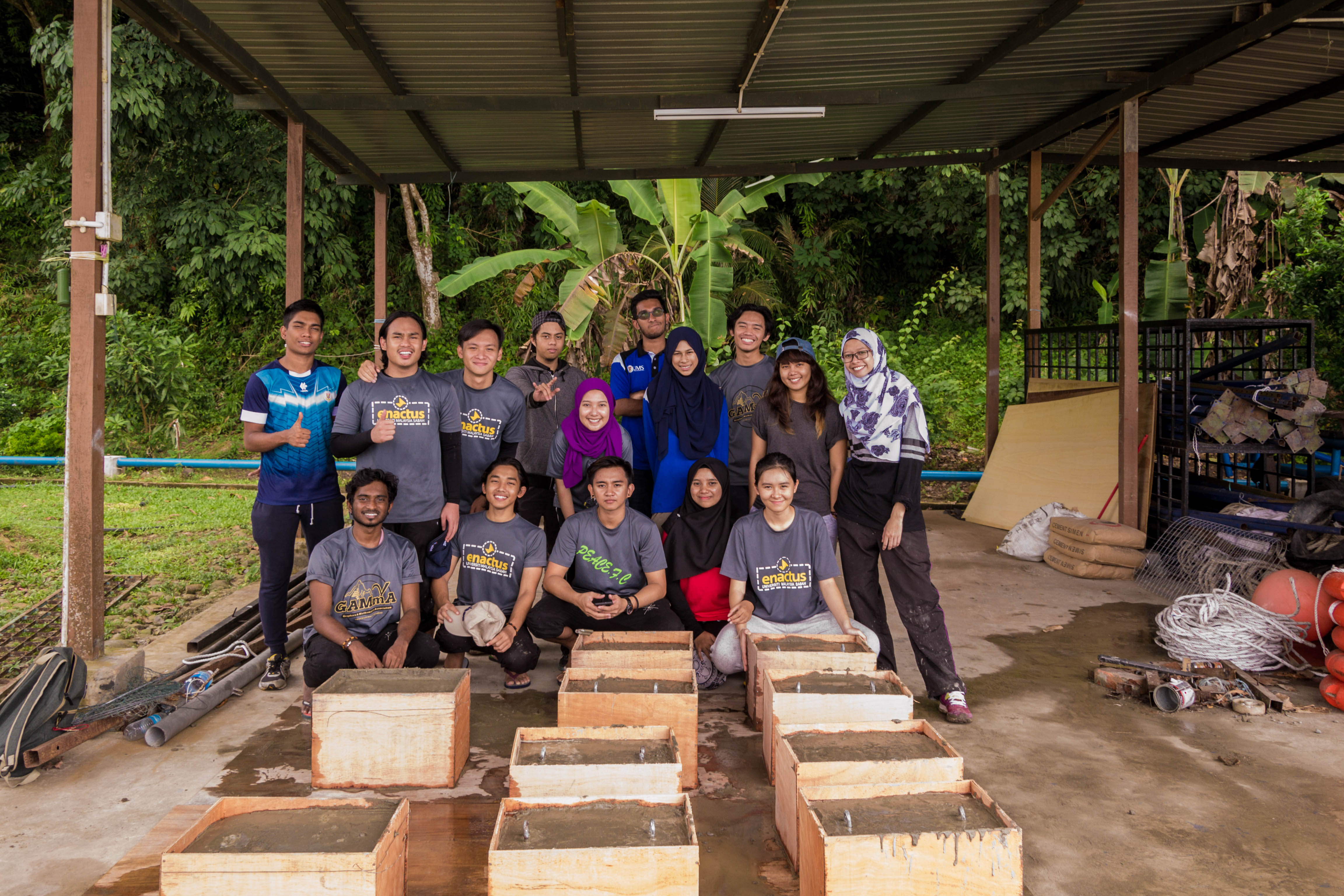 The 18 other payaos to be installed. Image provided by UMS Enactus Club.