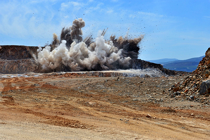 To be fair, mine blastings can get quite violent. Img from Mining Technology.