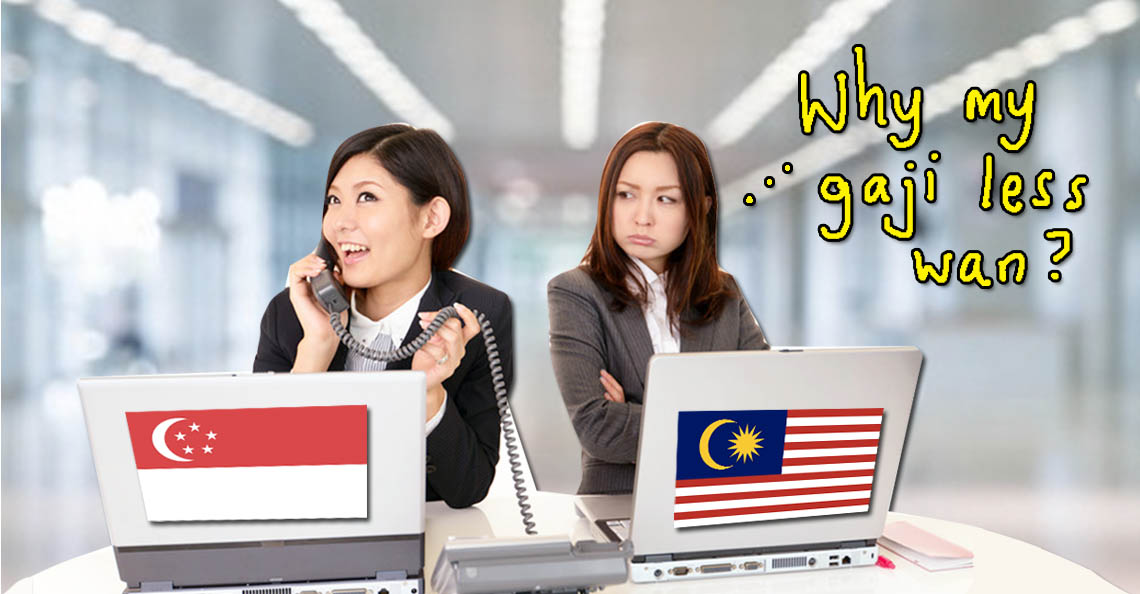 Ahaa... aside from less pay, foreign workers who are temporary residents also dun get social security wei! Click image to read why Malaysians are paid less in Singapore