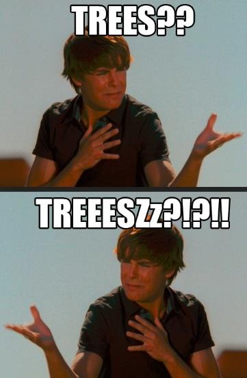 zac efron trees meme