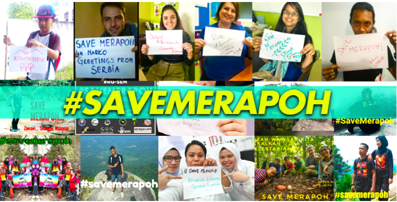 The campaign to #SaveMerapoh went global. Img from MyNewsHub.cc