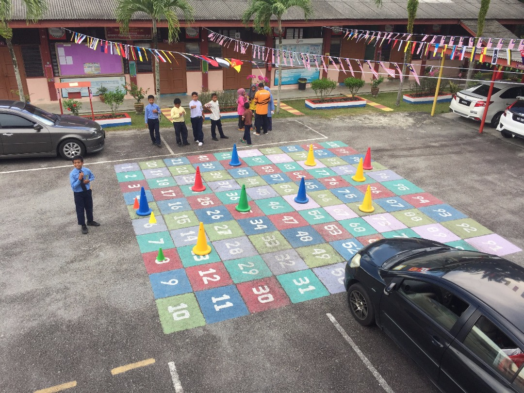 Students playing... something.