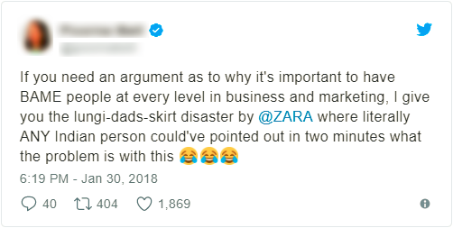 cultural appropriation india twitter zara skirt