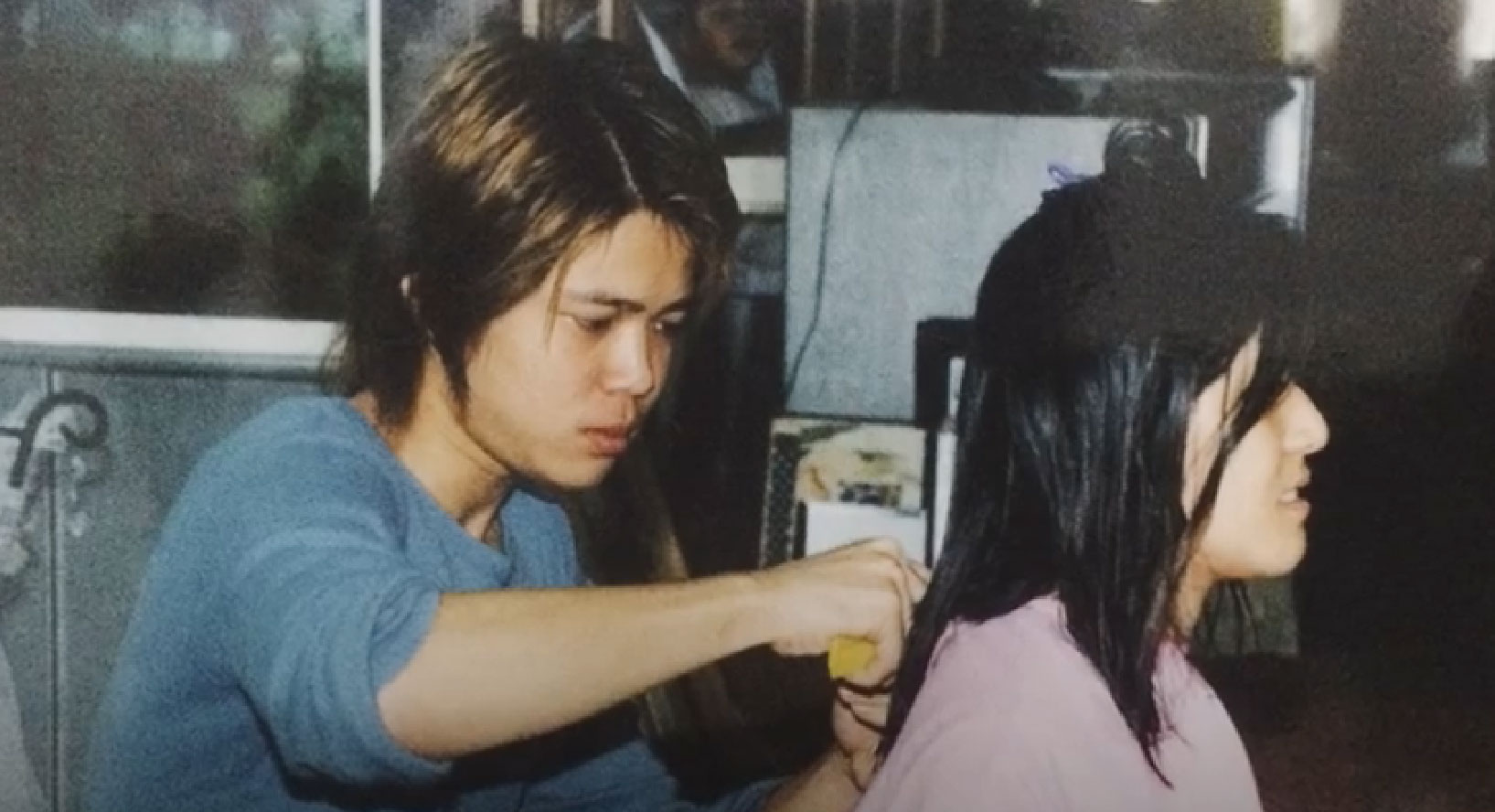 Back during Lex's early days as a barber. Image from Passion Portraits.