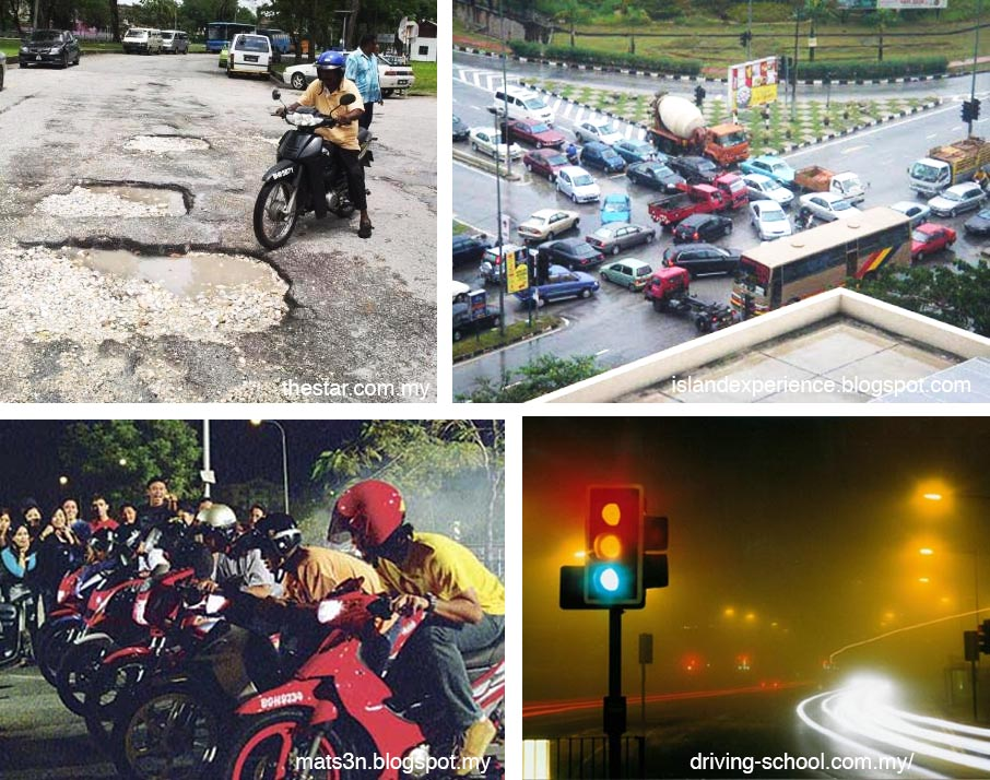 Driving in Malaysia, sure got drama one.
