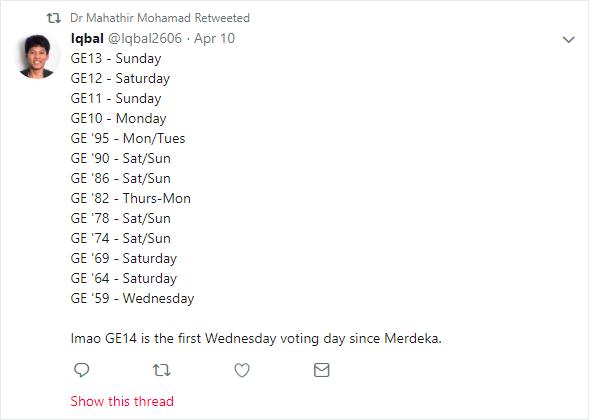 iqbal tweet retweeted mahathir