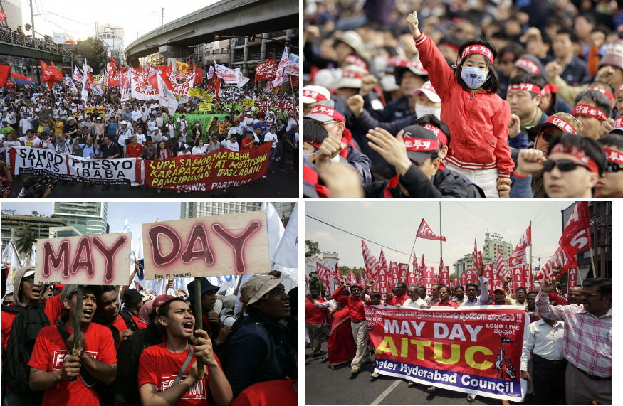 may day protests global worldwide