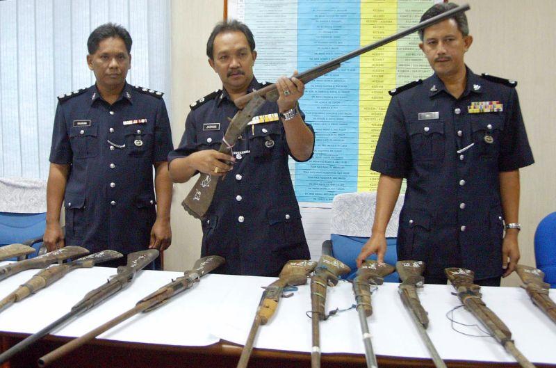 police sabah bakakuk homemade gun