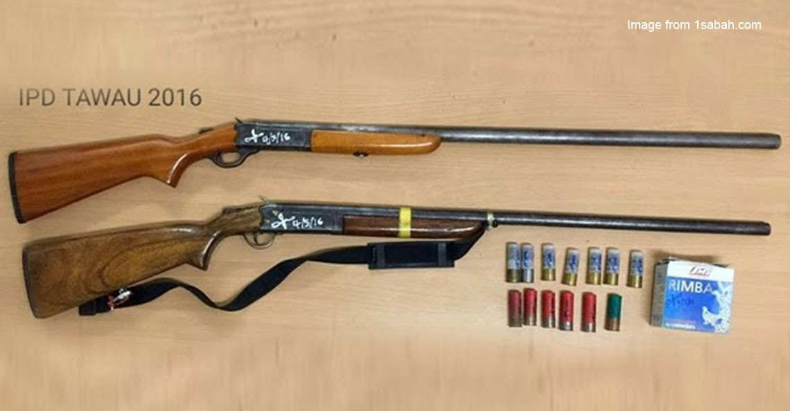 Why are people in Sabah making homemade guns? What is the law on this?