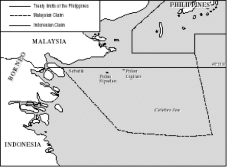 A map of the disputed islands in the region. Image from Durham University