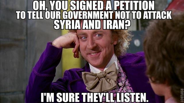 Whether or not petitions ever made a difference is up for debate. Img from Political Memes.