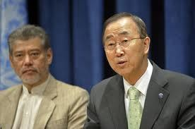 Prof. Jomo (left), with Ban Ki-Moon (UN's 8th General Secretary). Img from DinMerican's WordPress.