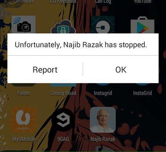 Najib Razak stopped working